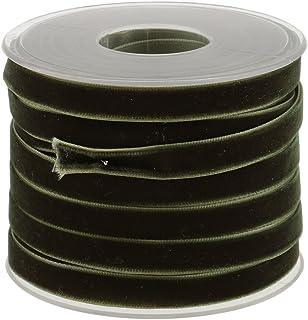 Hellery 20 werven Fluwelen Lint Spoel 10mm/0,4 inch breed - groen