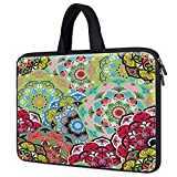 14 inch Neoprene Laptop Handle Bag for HP 14' Laptop/HP Pavilion x360 14/Chromebook 14, Dell Inspiron 14 5000 7000 14', Lenovo Ideapad 3 14, Acer Swift 3 14 Protective Carrying Bag,Bohemian Floral