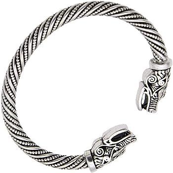 Couleur Argent Weryffe Corbeau Forme Viking Bracelet Manchette Bracelet Viking Bracelet Hommes Bijoux Vintage Teen Bracelets Corbeau Viking Bracelets pour Femmes