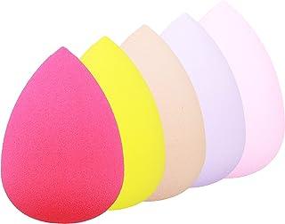 5 Pack Makeup Sponge Set Blender,Beauty Blending Sponge Eggs for Liquid, Creams, and Powders, 5 Color Makeup Sponges.