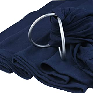Baby Wrap Carrier Ring Sling - 100% Organic Cotton Breathable Adjustable Ring Sling- Full Support and Comfort for Newborns, Infants & Toddlers - Best Baby Shower Gift for Boys and Girls(Dark Blue)