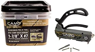 Camo 034510 DeckPac 875 1-7/8 in. ProTech Coated Trimhead Deck Screws with Marksman Pro-X1 and Driver Bits