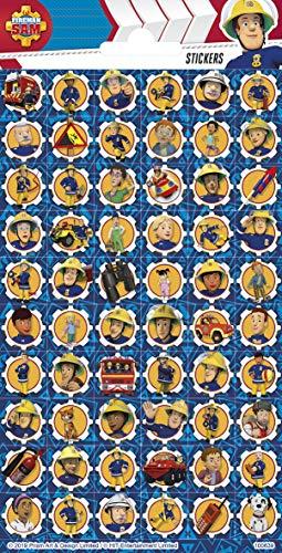 TrendyMaker Fireman Sam, Feuerwehrmann Sam Sticker, Aufkleber, 60 kleine Sticker, passend für Freundebuch, Tagebuch, Mitgebsel, Schultüte ...