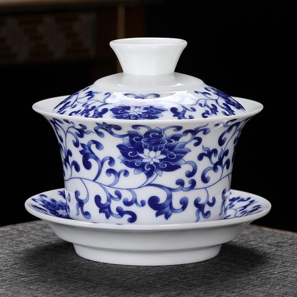 Deluxe China Traditional Teacup Ceramic Gaiwan Tea Sancai Set Bowl Sacramento Mall