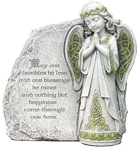 Roman, Inc. Joseph Studio Irish Angel Praying Outdoor Garden Stone Decoration 64378 New