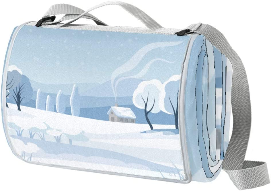 XJJUSC Snow Sale Special Price Scene Illustration Outdoor Waterproof Max 89% OFF Large Picnic