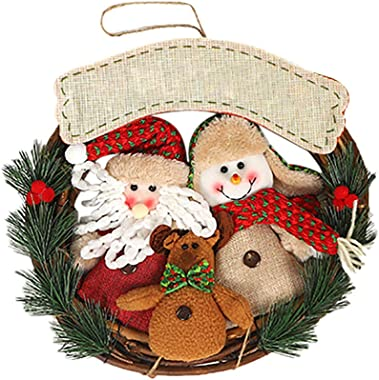 Christmas Wreaths for Front Door Decorative Christmas Garland, Hanging Christmas Decoration for Window, Fireplace, Walls with