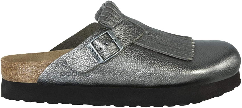 Papillio Unisex Boston Fringe Metallic Leather Sandals