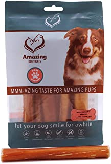 Amazing Dog Treats 6 Inch Bully Sticks - Premium Dog Chews - 100% Beef - Long Lasting Dog Treats - (10, 25 & 50 Pack)