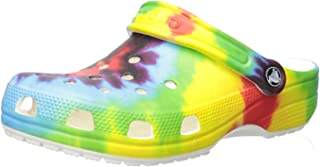 Crocs Kids' Classic Tie-Dye Graphic Clog | Casual Water or Beach Shoe, Tie Dye Multi, 3 M US Little Kid