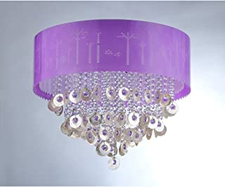 Whse of Tiffany RL1035 Violet Crystal Chandelier