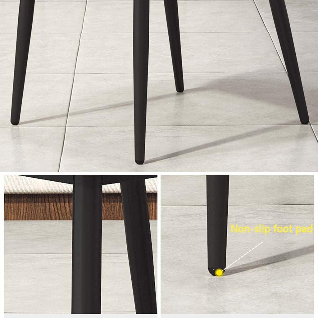 DXZ-Design Chaises de Salle à Manger Chaises de Cuisine de Meubles Modernes, chaises de Loisirs de siège rembourré Doux, Jambes en métal (Gris, Hauteur du siège: 50 cm) #2