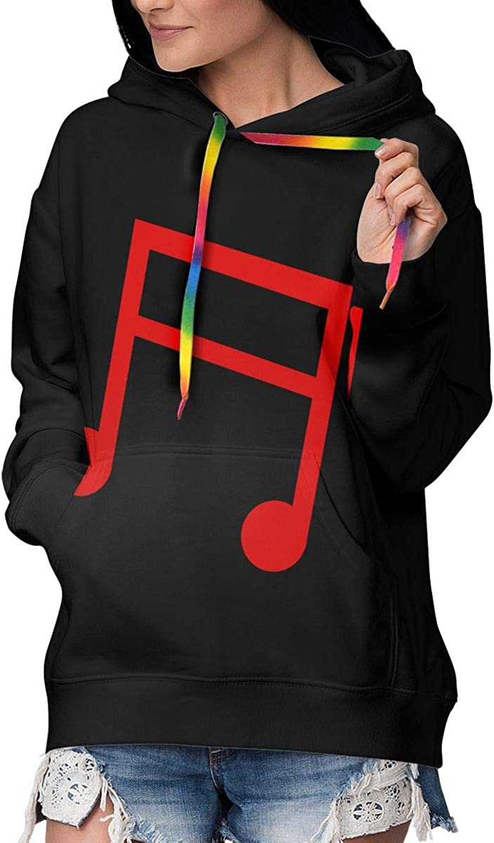 Kslen Women's Music Note Red Fleece Hoodie Lined Po with Large discharge sale Fashion Max 66% OFF