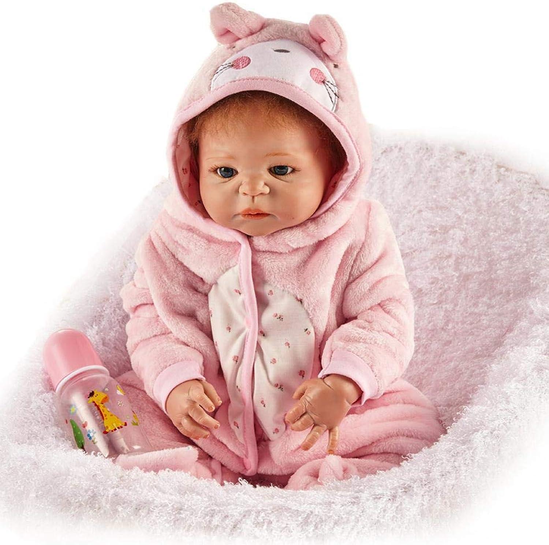 Hongge Reborn Baby Doll,Lebensechte Silikon Reborn Puppe lebensecht Baby Reborn Puppe Spielzeug Geschenk 57cm