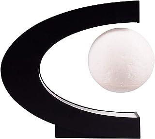 Lámpara de luna levitante magnética, luz de luna flotante con luces LED en forma de C, luz de luna LED de impresión 3D multicolor, luz de noche de mesa para decoración de escritorio en casa
