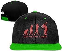 WellShopping Grumpy Old Man Solid Flat Bill Snapback Baseball Hat Hip Hop Unisex Custom Fashion Cap