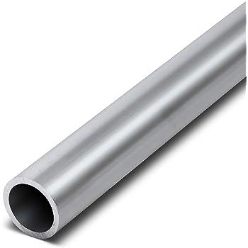 Edelstahl Rundrohr V2A /Ø 35x1,5mm L/änge 500mm K240 50cm auf Zuschnitt