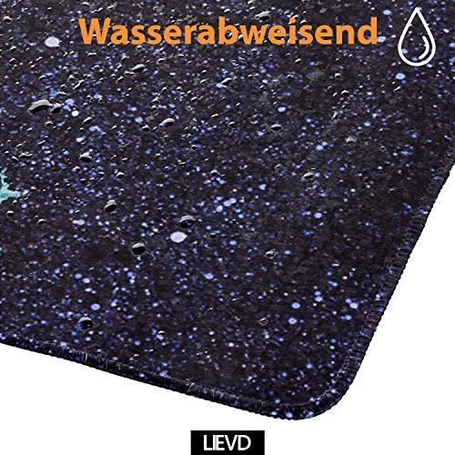 LIEVD XXL Gaming Mauspad | 900 x 400 mm | Schreibtischunterlage groß | XXL Mousepad rutschfest für verbesserte Geschwindigkeit | Tischunterlage wasserabweisend | PC Matte – Worlmap Print