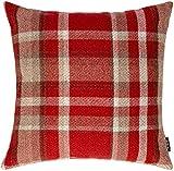 McAlister Textiles Heritage | Kissenbezug für Sofakissen in Rot | 40 x 40 cm | gewobenes...