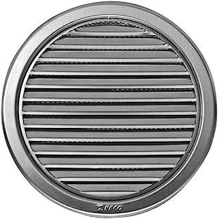 Gitter für Lüftungssystem, Durchmesser 125 mm 12,7 cm, rund, Edelstahl