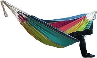 comprar comparacion Fiosoji Hamaca de Lona Individual portátil para Patio Patio jardín hogar Parque Viajes Camping, Capacidad de Carga de hast...