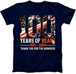 100 Years Of Chicago Thank You For The Memories 1920-2020 Football Jersey Portrait Customized Handmade T-Shirt Hoodie/Long Sleeve/Tank Top/Sweatshirt