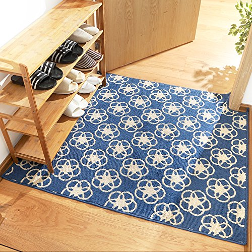 GRENSS Einfachen Stil Eingang Fußmatte Anti-Skid Wolldecken für Schlafzimmer/Küche Bett Matten strapazierfähige Teppiche waschbar Matten Tee Tabelle Teppiche, 03,500 mm x 800 mm
