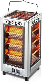 Calentadores, hogar Radiador Vertical Estufa para Hornear pequeña Calefacción silenciosa Barbacoa de Doble Uso - Calefacción de Tubo de Cuarzo (Plata)