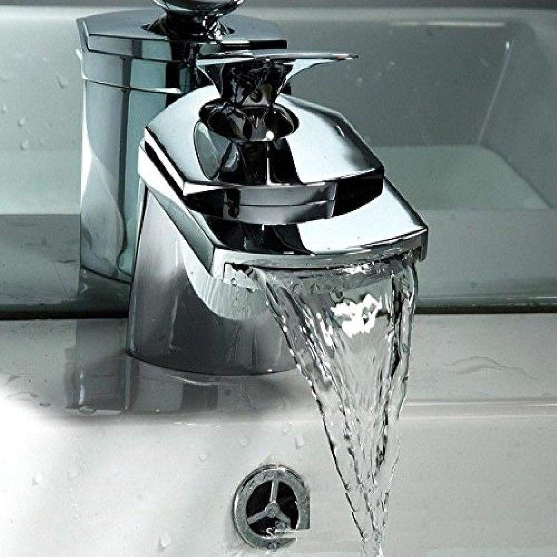 Honcx Faucet Taps Bathroom Cabinet Faucet Copper Single Hole Sink Mixer