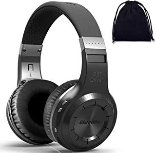 Bluedio Turbine H Wireless Bluetooth 5.0 Stereo Headphones with Mic, Shocking Bass Headphones with Storage Bag for Music E...