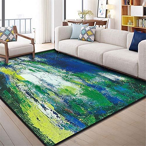 RUGMYW alfombras Salon Grandes Elementos Abstractos moteados Verde Amarillo Blanco Azul Alfombra Pasillo 180X250cm