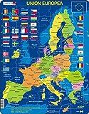 Larsen A39 La Unión Europea (UE), edición en Español, Puzzle de Marco con 70 Piezas