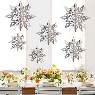 CNUSER Winter Wonderland Snowflakes Party Decorations 3D Card Hanging Paper Centerpieces..