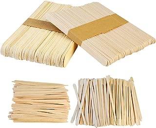 Yolyoo 400pcs Wooden Wax Sticks Wax Spatulas Wax Applicator Craft Sticks for Hair Eyebrow Removal, 4 Style