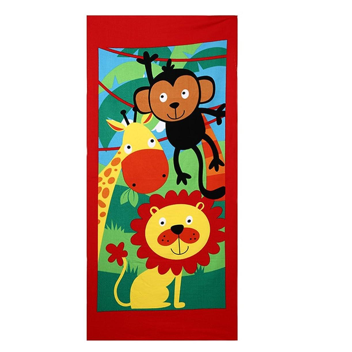 レッスンフラスコ書き込みAida Misa ビーチタオル 150cm 70cm レディースのストール ヨガざぶとん 250g 軽いタオル 子供用 猿 キリン ライオン 動物 可愛いタオル レジャーシート 運動会