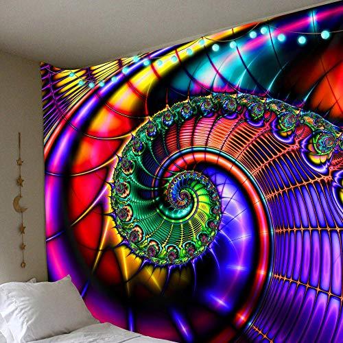MWTWM Tapiz De Pared Tapestry Trippy Psicodélico Hippie Bohemio Tapices De Pared, Brillante Colorido Remolino Abstracto Arte Impresión De Tela La Decoración De La Habitación De Dormitorio Salón