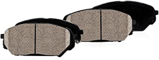 CPK11584 FRONT Performance Grade Quiet Low Dust [4] Metallic Brake Pads + Dual Layer Rubber Shims