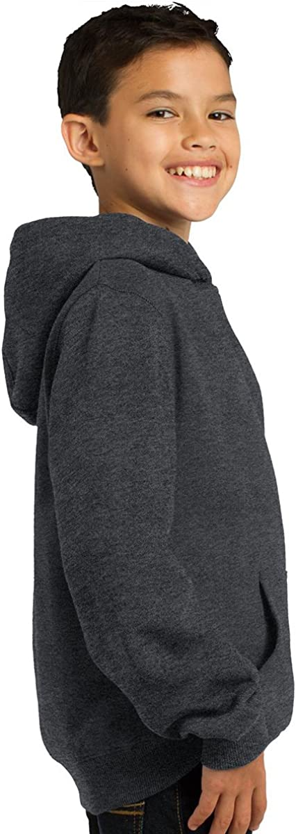 Sport-Tek Youth Comfortable Pullover Hooded Sweatshirt_Forest Green