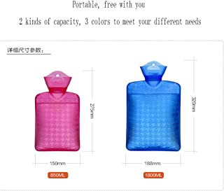 XIAOXIONG Hot Water Bottle, Water Injection Warm Water Bag Thick Explosion-Proof Girl Irrigation Student Dormitory Warm Fo...