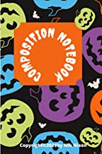 Composition Notebook: Halloween Journal For Kids Wide Ruled, 120 pages - Notebook With Matt Cover Perfect Gift For Halloween