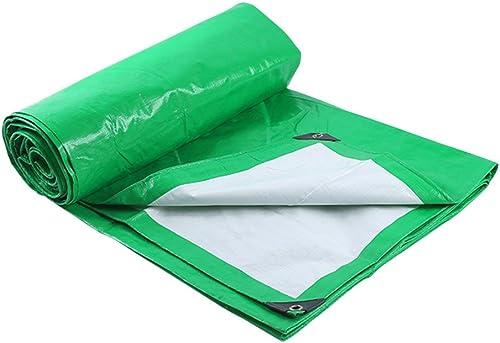 Tarpaulin HUO Bache Imperméable pour Le Camping De Pêche De Jardinage Et Les Animaux Familiers, Multi-Purpose Anti-UV Larme-Preuve, Vert + Blanc (Couleur   vert+blanc, Taille   10  14m)