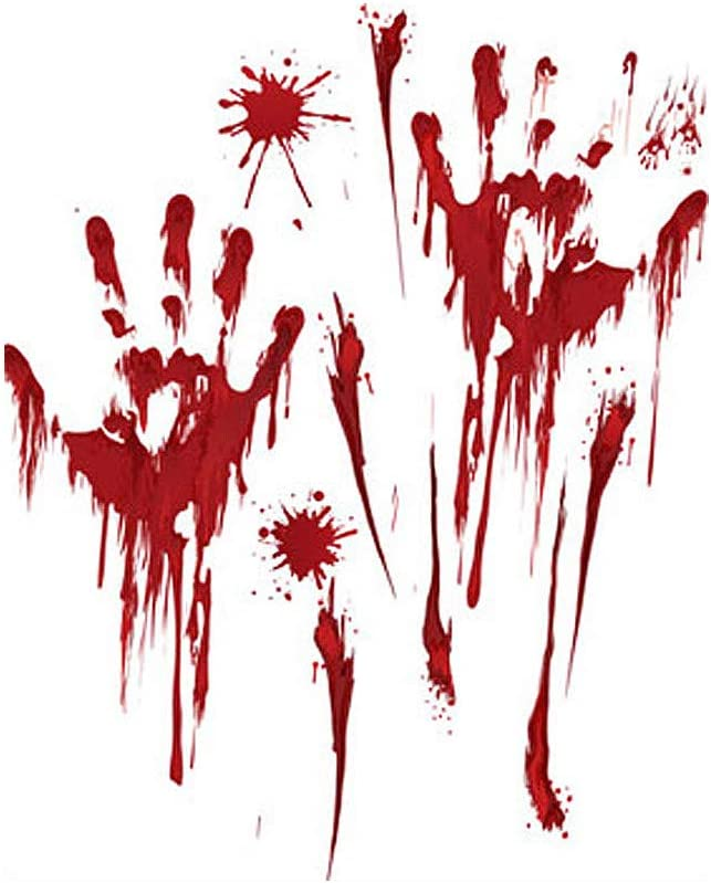 RYGHEWE Halloween Bloody Handprints Stickers Footprints Rare Rem Wall low-pricing