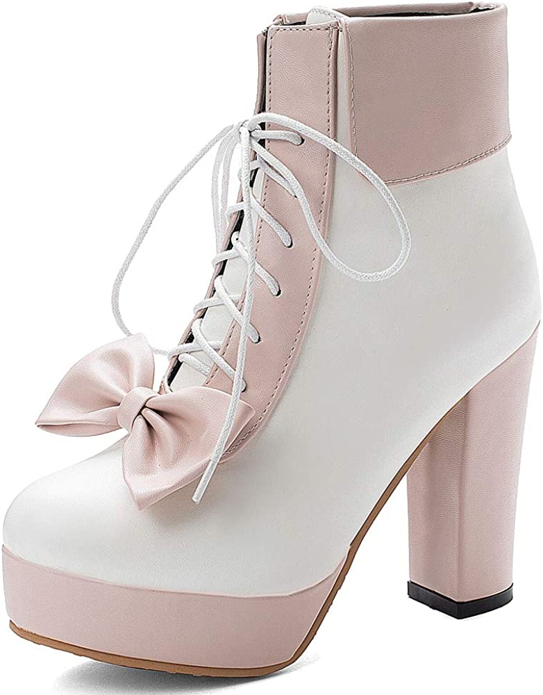 CYNLLIO Fashion Chunky High Heel Platform Ankle unisex Booties Wome Max 71% OFF for