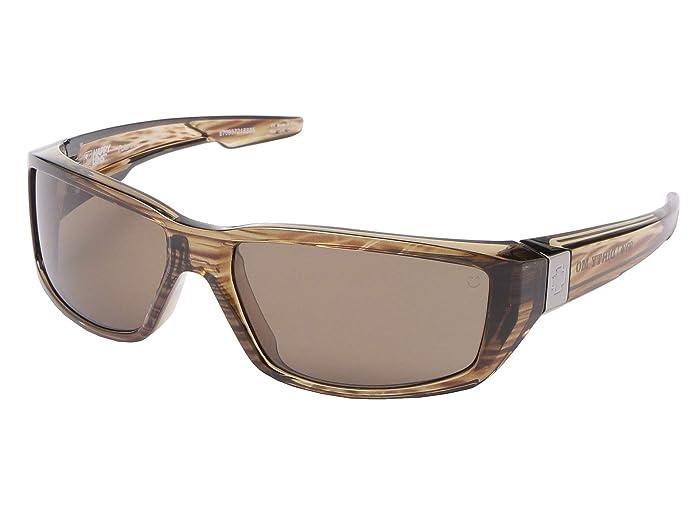 Spy Optic Dirty Mo (Brown Stripe Tort/HD Plus Bronze Polar) Sport Sunglasses