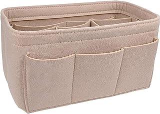 Felt Cosmetic Bag Makeup Bag Organizer Insert Bag Handbag Multi-Functional Travel Girl Toiletry Storage Bags L 1pc Beige