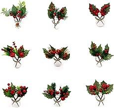 Ilexzweig 55cm grün mit roten Beeren CG Kunstzweig künstlicher Ilex Kunstblumen