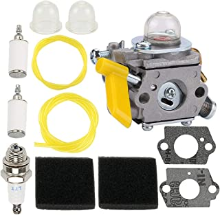 308054077 308054043 Carburetor for Ryobi CS26 CS30 SS26 Carburetor Homelite 308054015 308054028 308054034 309368003 985624001 25cc 26cc 30cc Hedge String Trimmer Blower Chainsaw & 900952001 Air Filter