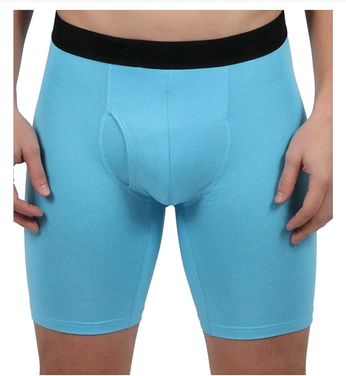 Athletic Works Aqua Wave/Blue Cove/Charcoal 3 Pack Performance Mesh Boxer Briefs