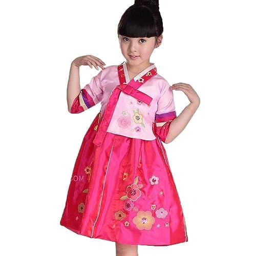 182a290b308 FANCYKIDS Girls Toddler Korean Hanbok Traditional Outfit Dress Costume