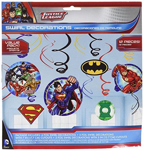 Justice League Foil Swirl Value Pack Decorations, Party Favor